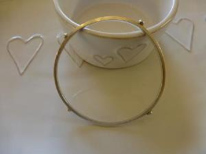 4 silver nuggets bangle