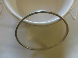 Dimple textured bangle